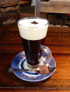 Classic Irish Coffee... Paddy's Irish Whiskey, freshly ground coffee and fresh cream
