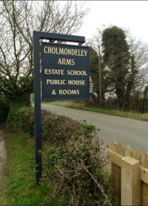 Sign - The Cholmondeley Arms