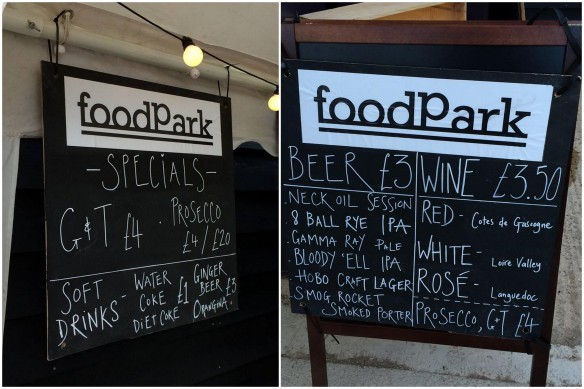 foodPark bar sign collage
