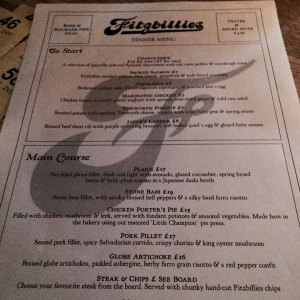 Menu Fitzbillies