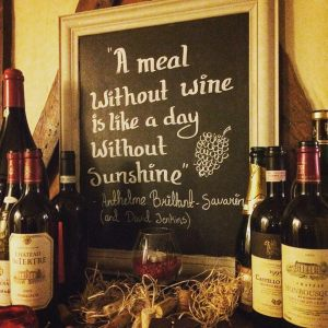 The Chequers Wine Sign