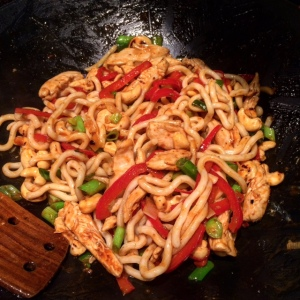 Chicken Cashew Stir Fry with noodles
