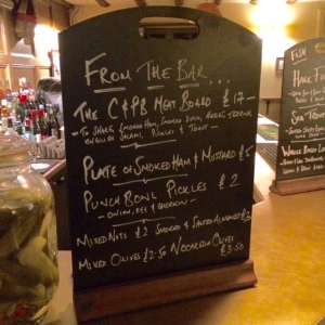 Crown & Punchbowl Bar Menu