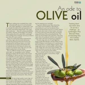 Cambridge Magazine May 2016 Olive Oil