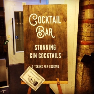 Gin Festival Cocktail Bar Sign