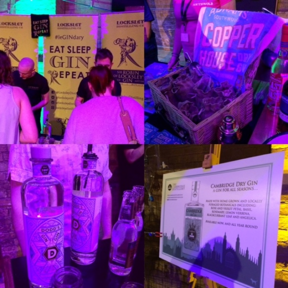 Gin Festival Collage Gins