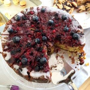 Gluten free berry cake