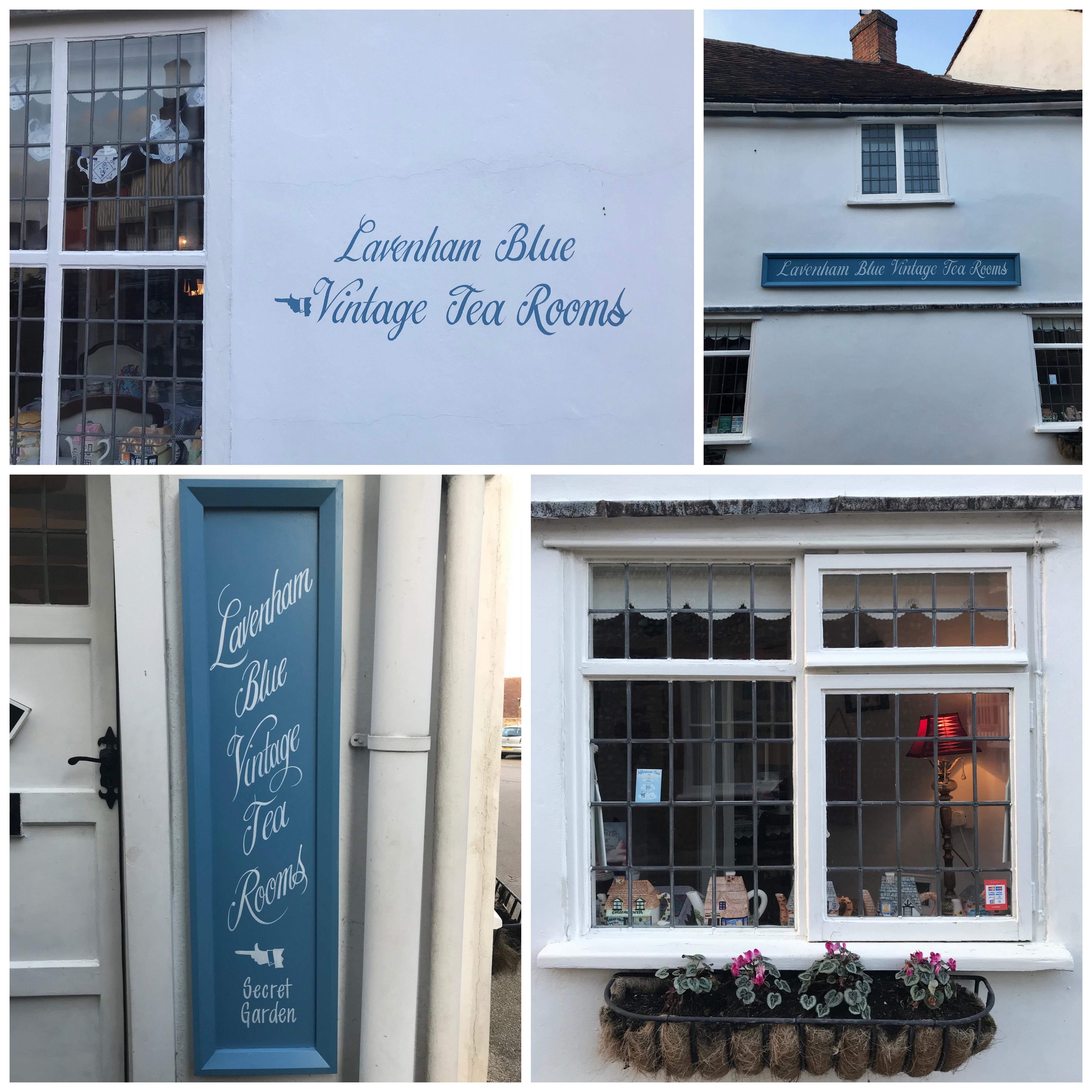Vintage Blue Tea Room Lavenham