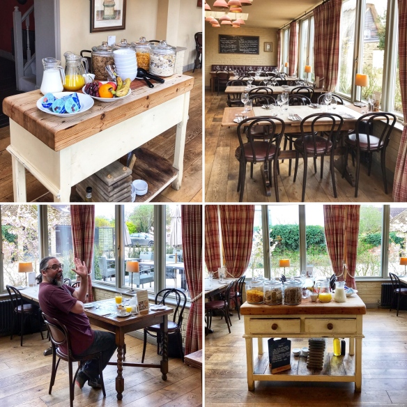 The Crown & Punchbowl Horningsea Cambridge breakfast collage