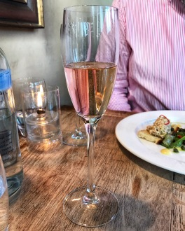 The Crown & Punchbowl Cambscuisine sparkling rose