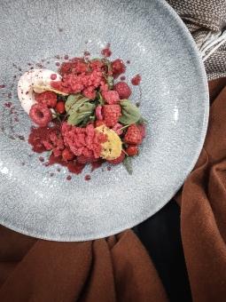 The Tasting Table Cambridge Dulcedo raspberry pepper parmesan sorrel