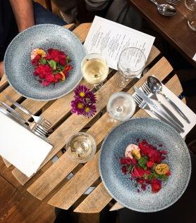 The Tasting Table Cambridge Dulcedo Andrew Hunter raspberry pepper parmesan sorrel