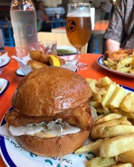 Eric's Fish & Chips St Ives Cambridgeshire fish burger Japanese style