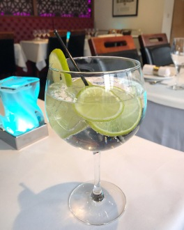 Prana Indian Restaurant Cambridge gin and tonic