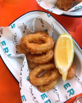 Eric's Fish & Chips St Ives Cambridgeshire battered squid