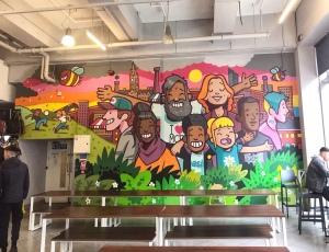 Arndale Market Manchester Mural