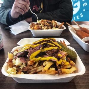Blue Caribou Snack Bar du Quebec Manchester poutines