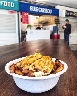 Blue Caribou Snack Bar Manchester traditional poutine