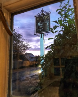 Cam Spice pub sign The Hoops Great Eversden Cambridgeshire