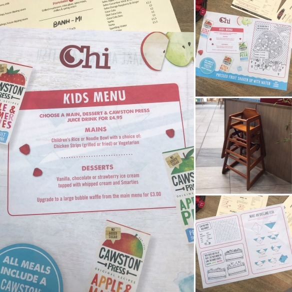 Chi Restaurant The Grafton kids menu