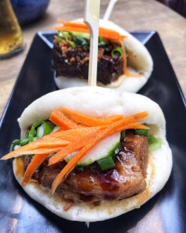 Pork belly and short rib baos Chi The Grafton Cambridge