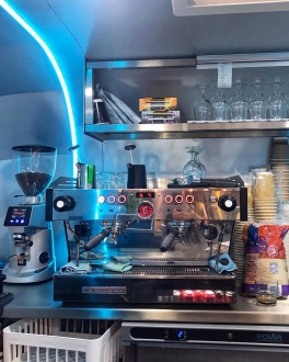 The Duck Truck La Marzocco coffee machine Grafton Cambridge