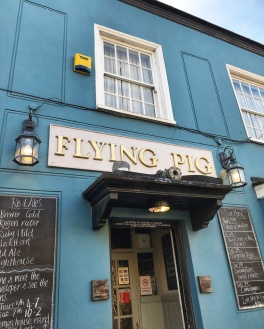 The Flying Pig Cambridge sign
