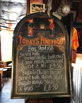 The Flying Pig Cambridge specials board