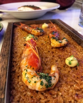 Mercado Central Cambridge paella prawns