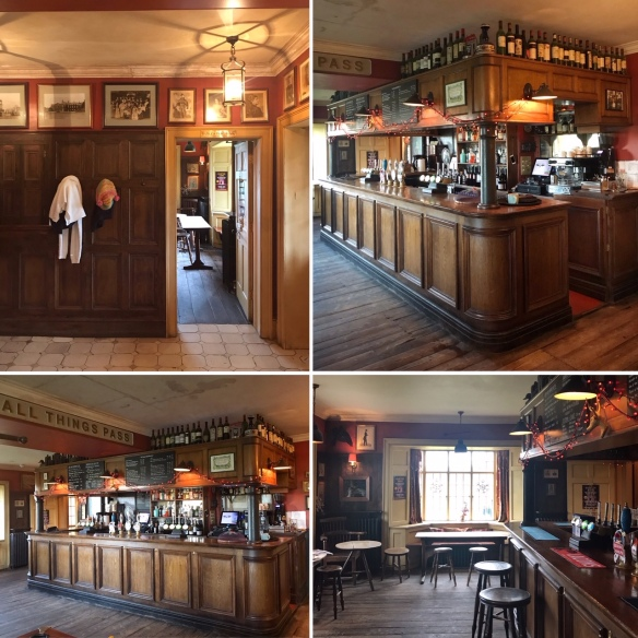 The Gunton Arms Norfolk collage bar