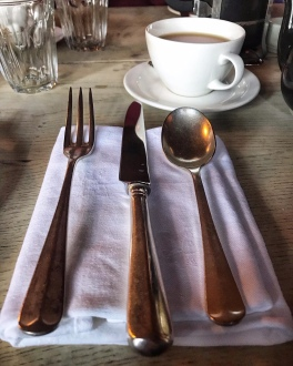 The Gunton Arms Norfolk cutlery