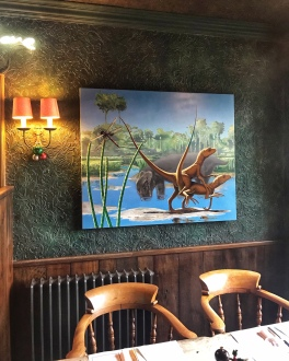 The Gunton Arms Norfolk dinosaurs Alexis Rockman