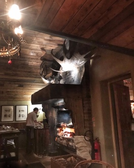 The Gunton Arms Norfolk open fire Elk Room