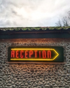 The Gunton Arms Norfolk reception sign