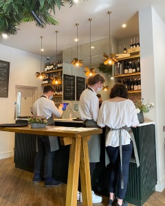 The Wine Rooms Cambridge bar area