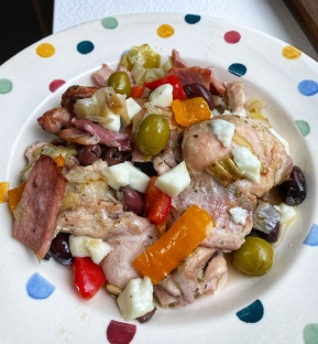OliveOlive That Chicken And Olive Thing plate