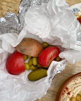 Kingston Arms Cambridge pickles for hummus